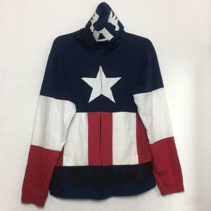 Men Marvel Captain America Hoodie Size XXL